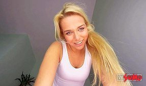 Blonde Euro Girl Next Door Sits on Your Face
