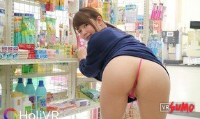 Adorable Asian Cutie gets Fucked in the Public Grocery Store