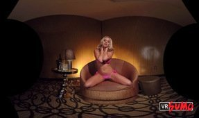 VR Strip Club: Hot Blonde Babe Alexis Monroe's Private Dance